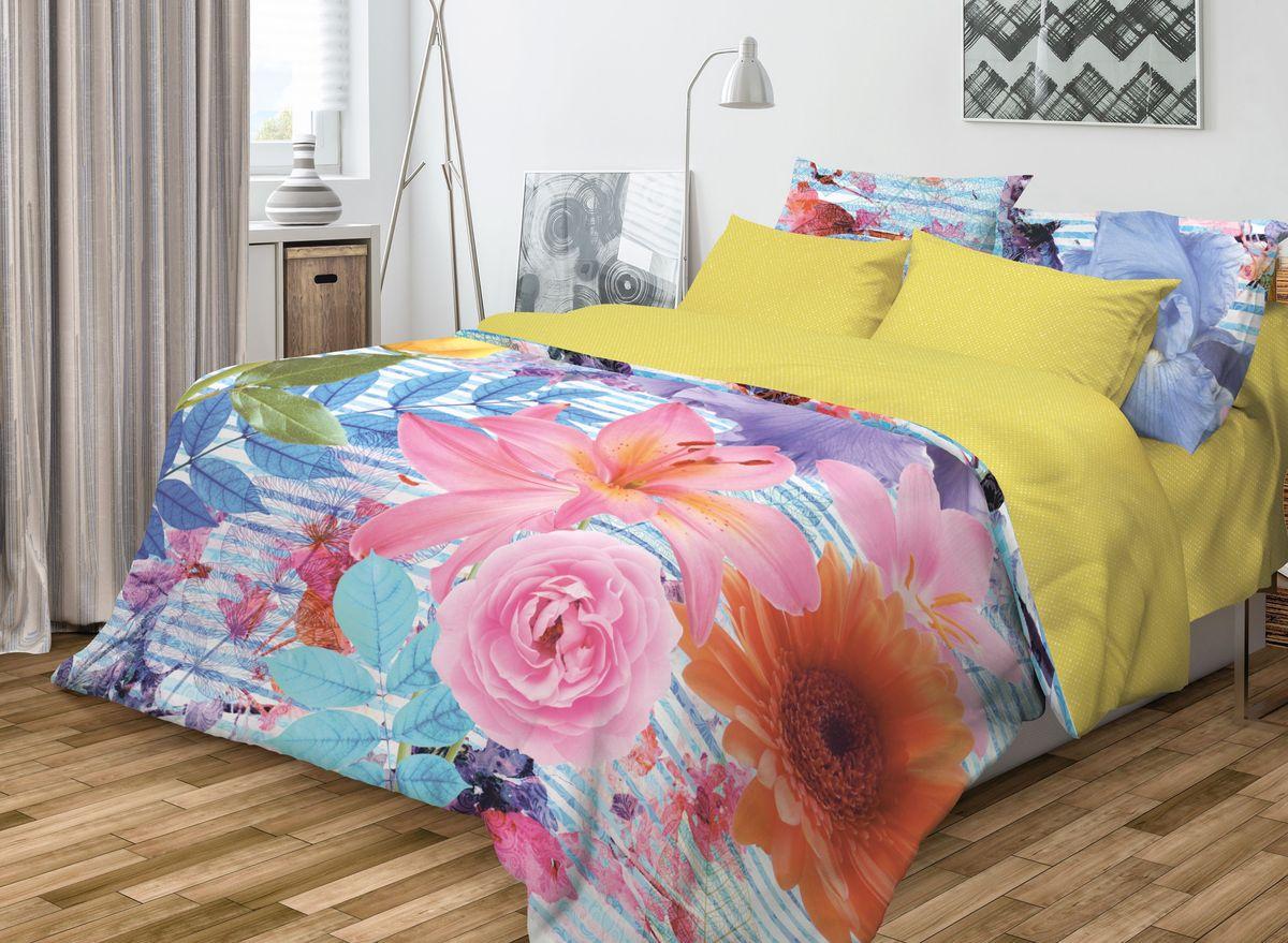 Комплект белья Волшебная ночь Nikki, евро, наволочки 50х70, цвет: голубой, розовый, желтыйS03301004Роскошный комплект постельного белья Волшебная ночь Nikki выполнен из натурального ранфорса (100% хлопка) и оформлен оригинальным рисунком. Комплект состоит из пододеяльника, простыни и двух наволочек. Ранфорс - это новая современная гипоаллергенная ткань из натуральных хлопковых волокон, которая прекрасно впитывает влагу, очень проста в уходе, а за счет высокой прочности способна выдерживать большое количество стирок. Высочайшее качество материала гарантирует безопасность.