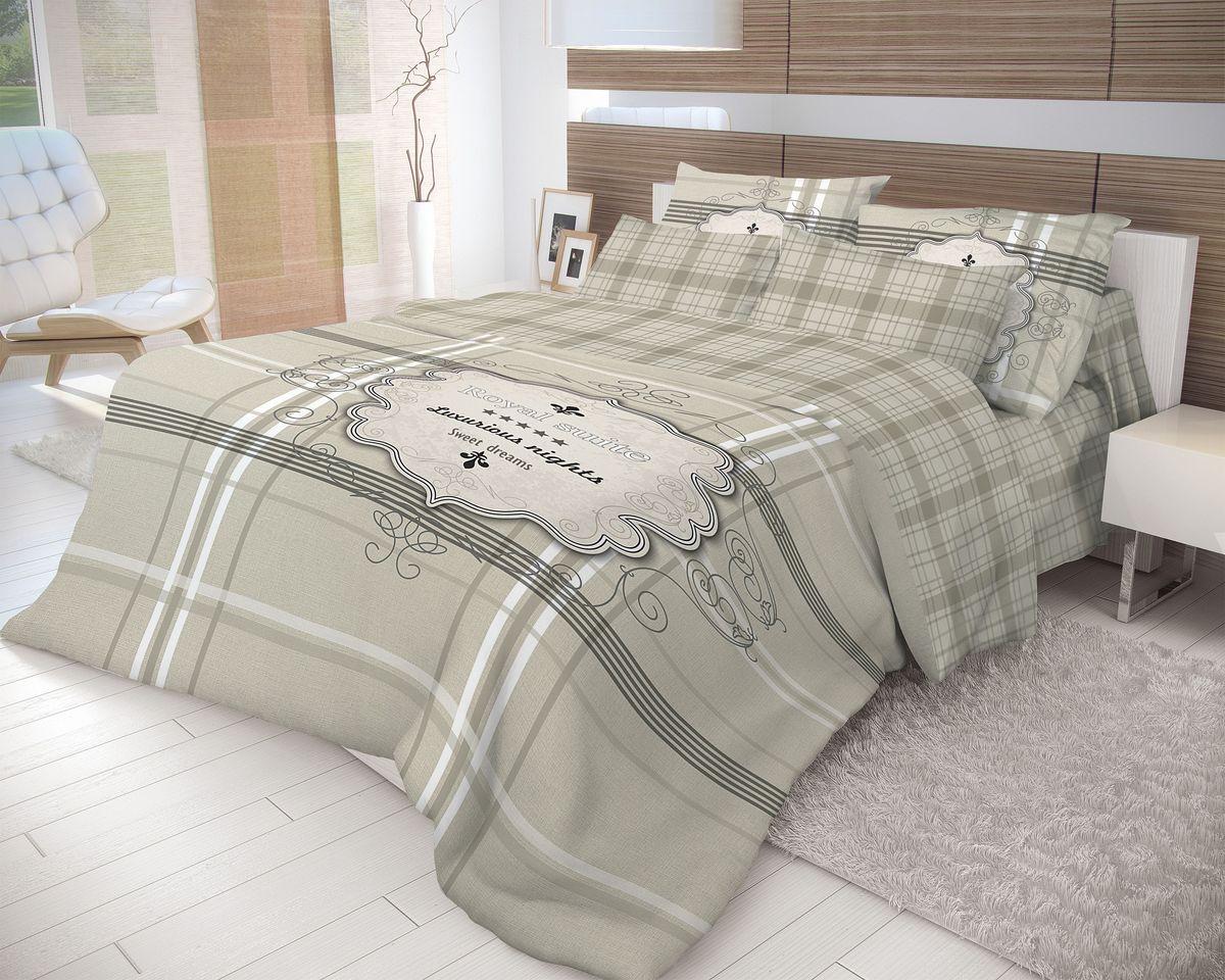 Комплект белья Волшебная ночь Royal Suite, 2-спальный, наволочки 70х70, цвет: темно-серый. 710594FD 992Роскошный комплект постельного белья Волшебная ночь Royal Suite выполнен из натурального ранфорса (100% хлопка) и оформлен оригинальным рисунком. Комплект состоит из пододеяльника, простыни и двух наволочек. Ранфорс - это новая современная гипоаллергенная ткань из натуральных хлопковых волокон, которая прекрасно впитывает влагу, очень проста в уходе, а за счет высокой прочности способна выдерживать большое количество стирок. Высочайшее качество материала гарантирует безопасность.