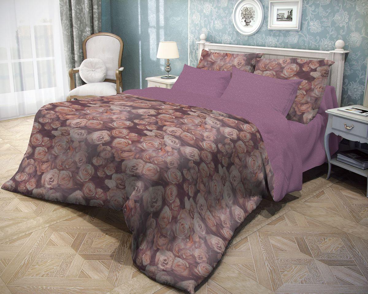 Комплект белья Волшебная ночь Rose, 2-спальный, наволочки 70х70, цвет: темно-бордовый. 710602240000Роскошный комплект постельного белья Волшебная ночь Rose выполнен из натурального ранфорса (100% хлопка) и оформлен оригинальным рисунком. Комплект состоит из пододеяльника, простыни и двух наволочек. Ранфорс - это новая современная гипоаллергенная ткань из натуральных хлопковых волокон, которая прекрасно впитывает влагу, очень проста в уходе, а за счет высокой прочности способна выдерживать большое количество стирок. Высочайшее качество материала гарантирует безопасность.