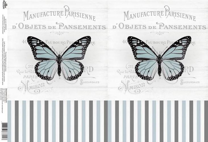 Рисовая карта для декупажа Кустарь Винтажные мотивы. Бабочки №9, 21 х 30 см09840-20.000.00Рисовая бумага - мягкая бумага с выраженной волокнистой структурой легко повторяет форму любых предметов.Рисовая карта для декупажа идеально подходит для стекла. Клеить их можно как на светлую, так и на темную поверхность.В отличие от салфеток, при наклеивании декупажные карты практически не рвутся и совсем не растягиваются. Для новичков в декупаже - это очень удобно и гарантируется хороший результат. Поверхность, на которую будет клеиться декупажная карта, подготавливают точно так же, как и для наклеивания салфеток, распечаток и т.д. Мотив вырезаем точно по контуру и замачиваем в емкости с водой, обычно не больше чем на одну минуту, чтобы он полностью впитал воду. Вынимаем и промакиваем бумажным или обычным полотенцем с двух сторон. Равномерно наносим клей на оборотную сторону фрагмента, и на поверхность предмета, с которым работаем. Прикладываем мотив на поверхность и сверху промазываем кистью с клеем легкими нажатиями, стараемся избавиться от пузырьков воздуха, как бы выдавливая их. Делать это нужно от середины к краям мотива. Оставляем работу сушиться. После того, как работа высохнет, нужно покрыть ее лаком.Размер: 21 см x 30 см.