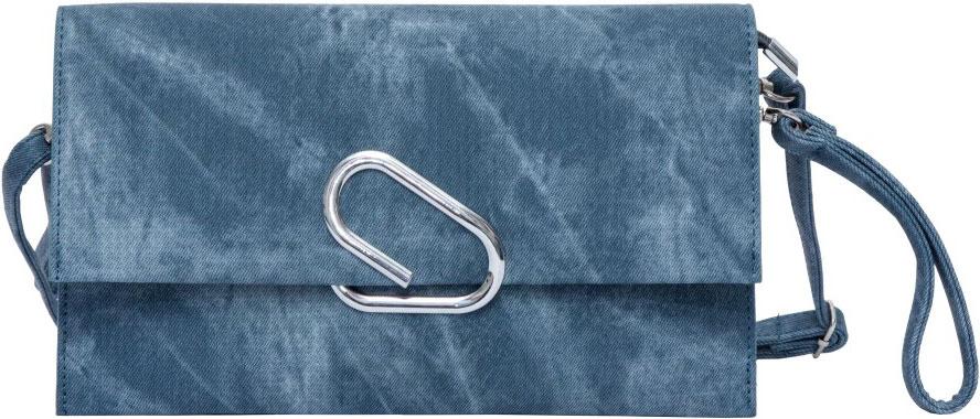 Клатч женский OrsOro, цвет: синий. D-019/3EQW-M710DB-1A1Клатч женский OrsOro выполнен из искусственной кожи. Изделие оснащено съемным плечевым ремнем, длина которого регулируется с помощью пряжки. Также сумка имеет съемный ремешок, с помощью которого изделие можно носить на запястье. Сумка закрывается клапаном на металлический фиксатор. Внутри расположено два отделения, одно из которых закрывается на молнию. Также внутри расположен один вшитый карман на молнии.