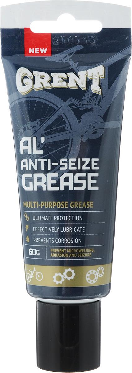 Смазка литиевая Grent, антиприкипающая, с алюминием, 60 гZ90 blackАнтиприкипающая литиевая смазка Grent представляет собой уникальную смесь литиевой смазки с ультрадисперсными порошками алюминия и графита. Позволяет эффективно смазывать трущиеся поверхности, работающие в тяжелых условиях эксплуатации, при высоком контактном давлении и экстремальных температурах. Используется для предотвращения микросваривания, истирания, коррозии и заедания, а так же для облегчения сборки. Диапазон рабочих температур: от -40°C до +700°C. Обеспечивает хорошую электропроводность. Применение: резьбовые, подвижные и не подвижные разъемные соединения, подседельные штыри, втулки.Товар сертифицирован.