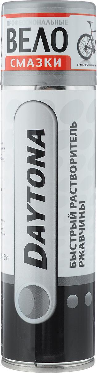 Растворитель ржавчины Daytona, аэрозоль, 250 млSСJ-2201Растворитель ржавчины Daytona - универсальная проникающая смазка: облегчает откручивание прикипевших болтов и гаек, растворяет ржавчину, вытесняет влагу, обеспечивает антикоррозийную защиту. Не вызывает повторной коррозии и консервирует поверхности материалов на длительный срок.Товар сертифицирован.