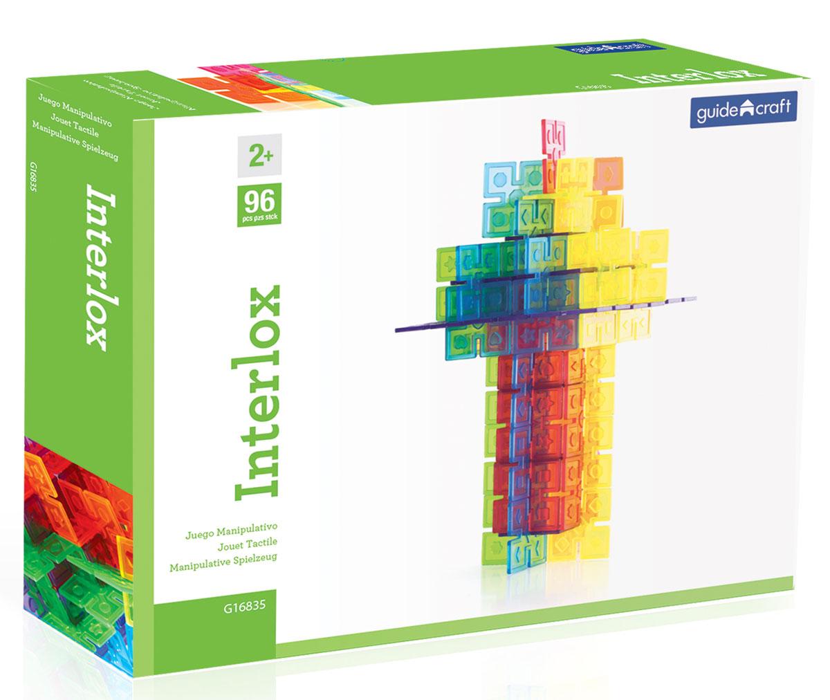 GuideCraft Конструктор пластиковый Interlox конструкторы guidecraft конструктор interlox квадратный 96 дет