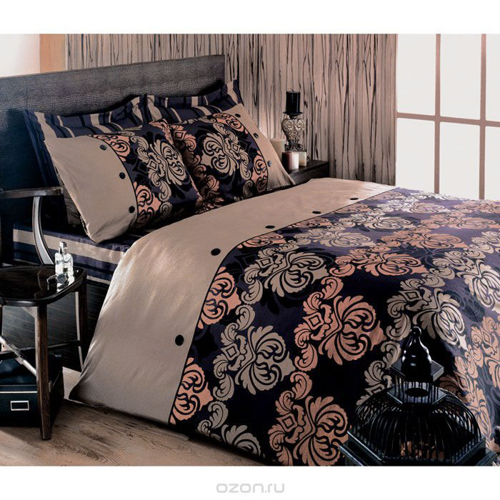 Комплект белья Tete-a-tete Дюбарри (2-х спальный КПБ, сатин премиум, наволочки 70х70, 50х70), цвет: бежевый. Т-0037-014630003364517Комплект постельного белья Дюбарри является экологически безопасным для всей семьи, так как выполнен из натурального хлопка. Комплект состоит из пододеяльника, простыни и четырех наволочек. Постельное белье оформлено оригинальным рисунком и имеет изысканный внешний вид. Все предметы комплекта цельнокроеные. Вас поразит необыкновенная тонкость, почти воздушная легкость и невероятная шелковистость этой специальной ткани, которая еще усилится после стирки. Ненавязчивые цвета хорошо примут наложение любого другого оттенка, при любом освещении. Ваша постель будет выглядеть безупречно. Наволочки имеют клапан без пуговиц и молнии.Пододеяльникимеет молнию на нижнем конце. Молния имеет фиксаторы, не позволяющие расстегиваться ей до самого конца, а сама она очень прочная и состоит из одной эргономичной детали, что не позволит ей сломаться легко.Сатин - производится из высших сортов хлопка, а своим блеском, легкостью и на ощупь напоминает шелк. Такая ткань рассчитана на 200 стирок и более. Постельное белье из сатина превращает жаркие летние ночи в прохладные и освежающие, а холодные зимние - в теплые и согревающие. Благодаря натуральному хлопку, комплект постельного белья из сатина приобретает способность пропускать воздух, давая возможность телу дышать. Одно из преимуществ материала в том, что он практически не мнется и ваша спальня всегда будет аккуратной и нарядной. Рекомендации по уходу:стирать изделия, вывернув их наизнанку (особенно это касаетсяизделий с фурнитурой), при температуре до 30°С, c использованием современных высокотехнологичных порошков, щадящими отбеливателями без хлора, мягкими кондиционерами, смягчителями для воды, если она у вас жесткая, щадящим режимом отжима и сушки, без химчистки. Характеристики: Материал: премиум-сатин (100% хлопок). Размер упаковки: 34 см х 7 см х 53 см. В комплект входят: Пододеяльник - 1 шт. Размер: 175