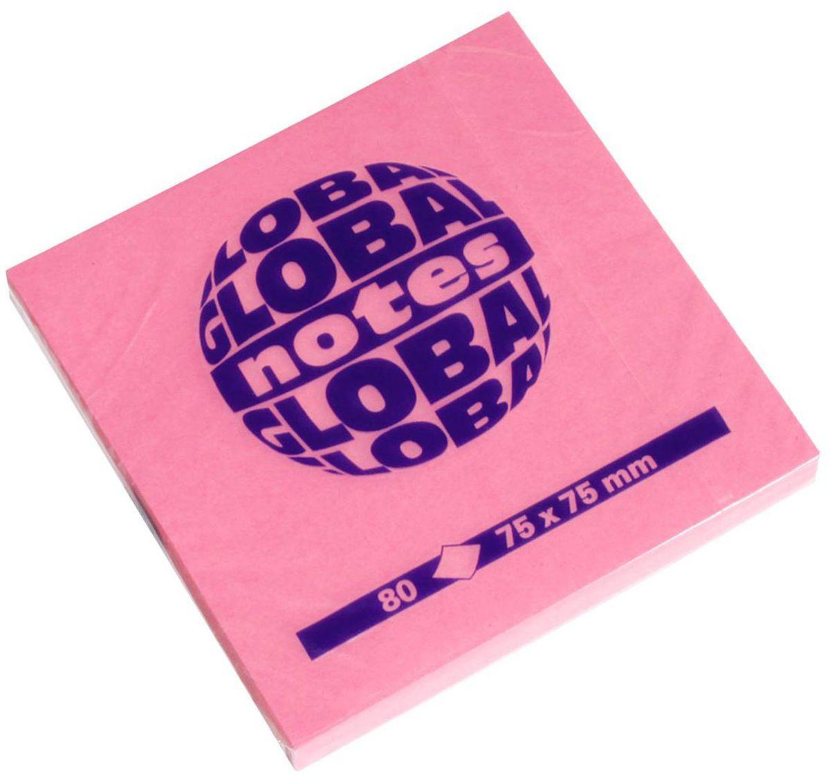 Global Notes Бумага для заметок с липким слоем цвет розовый 7,5 х 7,5 см 80 листов0703415Бумага для заметок с липким краем Global Notes - это удобное и практичное решение для быстрой записи информации дома или на работе.Качественная клеевая полоса рассчитана на крепление к любой поверхности, позволяет приклеивать и отклеивать листок неограниченное количество раз, не оставляя следов. Блок состоит из 80 листов бумаги ярко-розового цвета.Размер блока - 75 х 75 мм.Плотность бумаги 70г/м2.