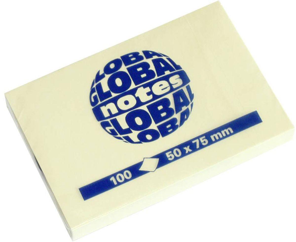 Global Notes Бумага для заметок с липким слоем цвет желтый 100 листов 365601367039Бумага для заметок с липким краем Global Notes - это удобное и практичное решение для быстрой записи информации дома или на работе.Качественная клеевая полоса рассчитана на крепление к любой поверхности, позволяет приклеивать и отклеивать листок неограниченное количество раз, не оставляя следов.