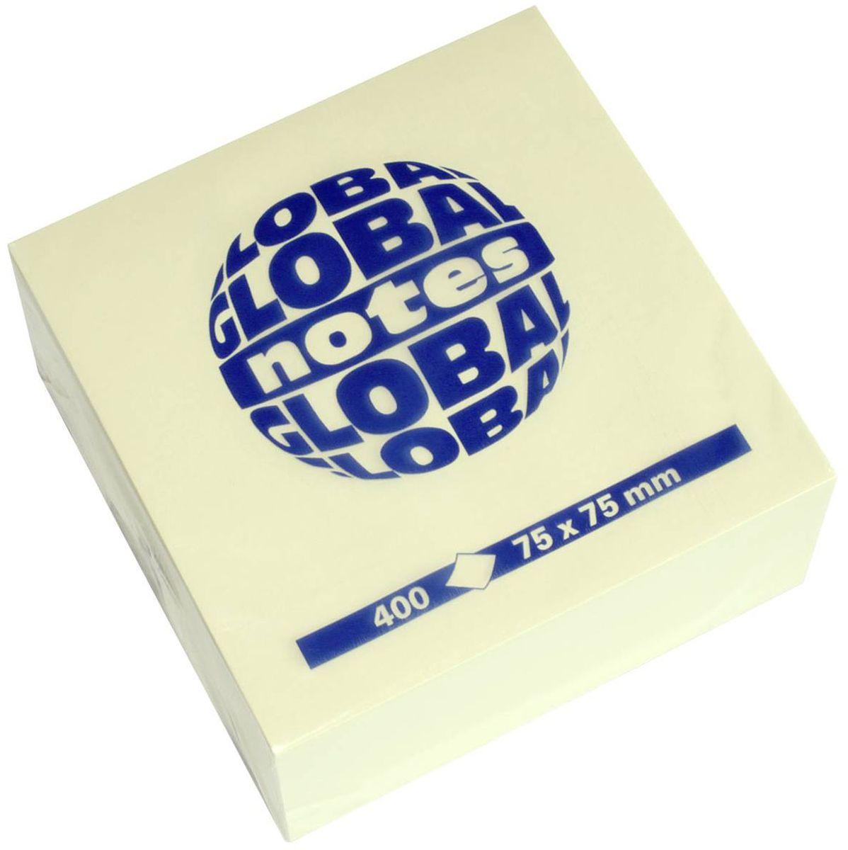 Global Notes Бумага для заметок с липким слоем цвет желтый 400 листов 382001126692Бумага для заметок с липким краем Global Notes - это удобное и практичное решение для быстрой записи информации дома или на работе.Качественная клеевая полоса рассчитана на крепление к любой поверхности, позволяет приклеивать и отклеивать листок неограниченное количество раз, не оставляя следов.