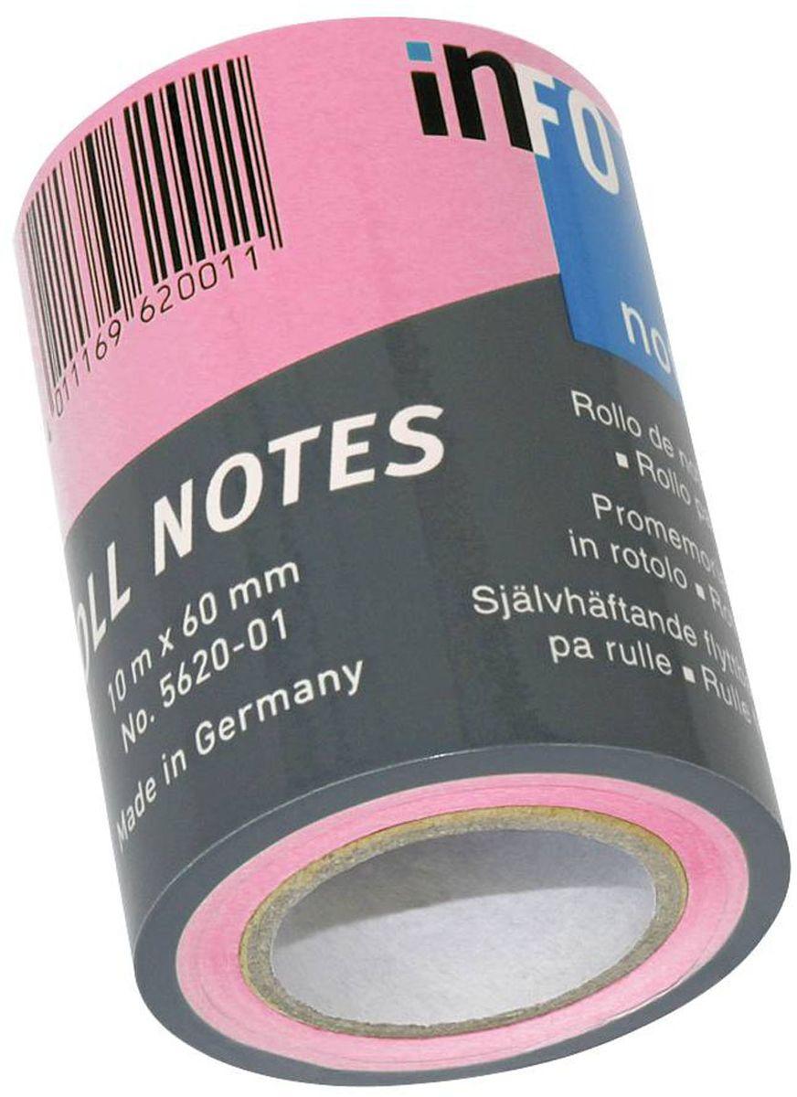 Global Notes Бумага для заметок с липким слоем цвет розовый 60 мм х10 м368209Бумага для заметок с липким слоем Global Notes - это удобное и практичное решение для быстрой записи информации дома или на работе.Предназначена для использования с любой бумагой для заметок в роле размером 60 мм х 10 м.