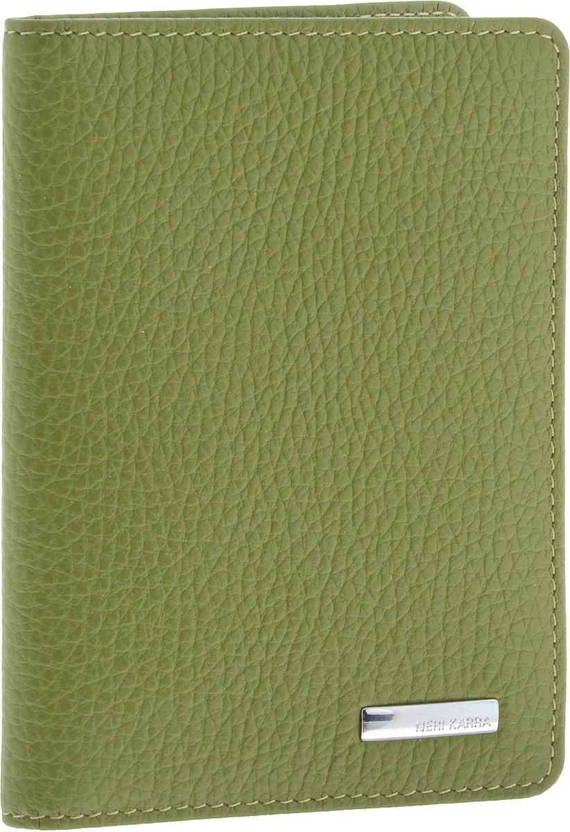 обложка для паспорта женская neri karra цвет зеленый бежевый 0140 05 06 04 Обложка для автодокументов женская Neri Karra, цвет: хаки. 0032 803.34/38