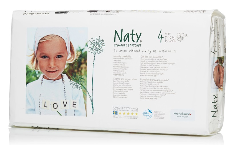 NatyФито-подгузники 4 (7-18 кг) 46 шт Naty