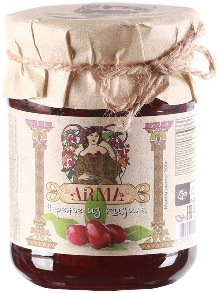 ARMA Варенье из кизила, 300 г0120710Известно, что кизил является богатым источником витаминов и микроэлементов. Одного только витамина С в нем больше, чем в лимонах. Кизиловое варенье производится из отборных ягод горного кизила, поэтому обладает необычайным вкусом и ароматом.