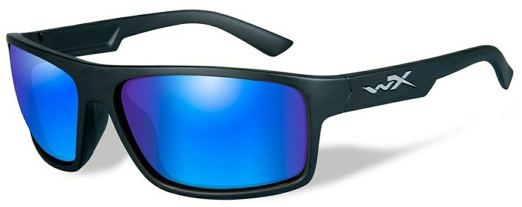 Очки солнцезащитные WileyX Peak Polarized, для охоты, рыбалки и активного отдыха, цвет: Blue Mirror, GreenBM8434-58AEСтильные очки WileyX Peak Polarized в матовой черной оправе с великолепными поляризованными зеркальными зелено-голубыми линзами - это отличная комбинация для любого вида активного отдыха. Установленные линзы поглощают отражения на зеркальных поверхностях, уменьшают блики и идеально подходят для ярких дней. Линзы Wiley X, изготовленные из безосколочного поликарбоната с устойчивостью к царапинам, обеспечивают 100% УФ-защиту.Защита от ударов на высокой скорости - оправа и линзы должны выдерживать удар тяжелого снаряда весом 500 г, падающего с высоты 127 см.Прочное покрытие - устойчивое к царапинам покрытие защищает линзы от механических повреждений и продлевает срок их службы.Антибликовое покрытие - антибликовое покрытие устраняет нежелательные отражения с поверхностей линз. Водоотталкивающее покрытие - водоотталкивающее покрытие обеспечивает скатывание воды с поверхности линз. Используется только на поляризационных линзах.