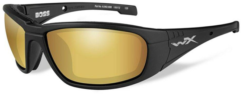 Очки солнцезащитные WileyX Boss Polarized, для охоты, рыбалки и активного отдыха, цвет: Gold Mirror, AmberCCBOS04Поляризованные зеркальные янтарно-золотистые линзы очков WileyX Boss Polarized обеспечивают превосходную видимость, как при ярком, так и в слабом освещении, и они идеально подходят для активного отдыха, особенно для рыбалки. Линзы , изготовленные из безосколочного поликарбоната с устойчивостью к царапинам, обеспечивают 100% УФ-защиту.Поляризационный фильтр 8ТМ - запатентованная WileyX технология поляризации линз обеспечивает 100% поляризацию и 100% защиту от ультрафиолетовых лучей для непревзойденной четкости и контрастности изображения.Защита от ударов на высокой скорости - оправа и линзы должны выдерживать удар тяжелого снаряда весом 500 г, падающего с высоты 127 см.Прочное покрытие - устойчивое к царапинам покрытие защищает линзы от механических повреждений и продлевает срок их службы.Антибликовое покрытие - антибликовое покрытие устраняет нежелательные отражения с поверхностей линз. Водоотталкивающее покрытие - водоотталкивающее покрытие обеспечивает скатывание воды с поверхности линз. Используется только на поляризационных линзах.Накладки FACIAL CAVITY™ - запатентованные защитные накладки защищают от ветра, механических обломков и периферийного освещения.