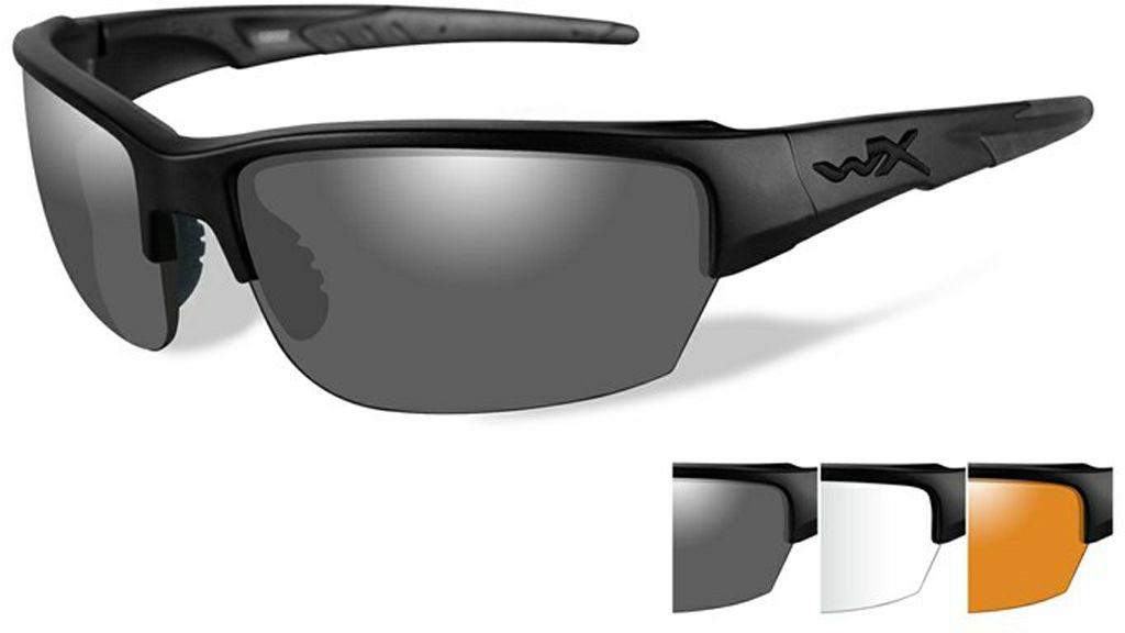Очки солнцезащитные WileyX Saint, для охоты, рыбалки и активного отдыха, цвет: Grey, Clear, Light RustBM8434-58AEДанная модель очков предоставляет возможность быть подготовленным к любым условиям освещенности. С этими очками ваши глаза будут защищены везде, куда бы вы ни отправились. И самые требовательные спортсмены и просто любители стрельбы по достоинству оценят возможность данных линз по к поиску отслеживанию и поражению цели в сложных условиях.ЗАЩИТА ОТ УДАРОВ НА ВЫСОКОЙ СКОРОСТИОправа и линзы должны выдерживать удар тяжелого снаряда весом 500 гр, падающего с высоты 127 смПРОЧНОЕ ПОКРЫТИЕУстойчивое к царапинам покрытие защищает линзы от механических повреждений и продлевает срок их службы.