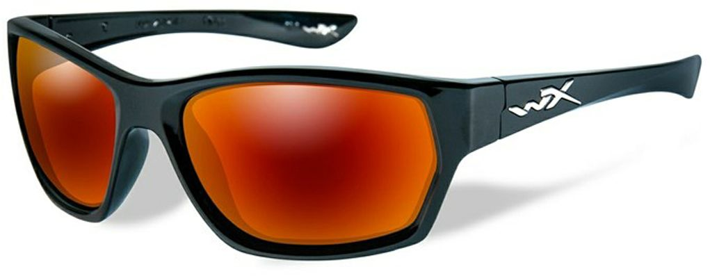 Очки солнцезащитные WileyX Moxy Polarized, для охоты, рыбалки и активного отдыха, цвет: Crimson Mirror, Smoke GreySSMOX05Стильные и жесткие очки WileyX Moxy Polarized - это великолепно выглядящая комбинация глянцевой черной оправы и поляризованных зеркальных линз, которая имеет довольно классический и одновременно ультрасовременный внешний вид. Поляризованные дымчато-багровые линзы отлично подходят условий, с которыми вы столкнетесь на склонах во время занятия сноубордингом или катания на лыжах, однако, они не менее эффективны во время управления автомобилем в солнечный день.Данная модель очков отлично подходит для активного отдыха в условиях интенсивной освещенности. Линзы изготовлены из поликарбонада особенно устойчивого к царапинам и обеспечивающего 100% УФ защиту. Поляризационный фильтр 8ТМ - запатентованная WileyX технология поляризации линз обеспечивает 100% поляризацию и 100% защиту от ультрафиолетовых лучей для непревзойденной четкости и контрастности изображения.Защита от ударов на высокой скорости - оправа и линзы должны выдерживать удар тяжелого снаряда весом 500 г, падающего с высоты 127 см.Прочное покрытие - устойчивое к царапинам покрытие защищает линзы от механических повреждений и продлевает срок их службы.Антибликовое покрытие - антибликовое покрытие устраняет нежелательные отражения с поверхностей линз. Водоотталкивающее покрытие - водоотталкивающее покрытие обеспечивает скатывание воды с поверхности линз. Используется только на поляризационных линзах.
