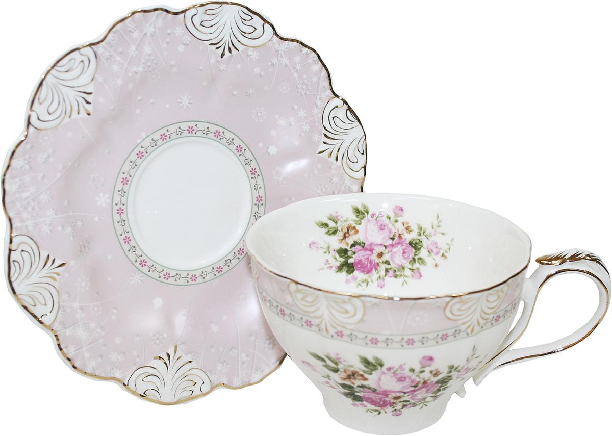 Чайная пара Chaozhou Fengxi Shenshui Розовый шелк, 2 предмета391602Чайная пара Chaozhou Fengxi Shenshui Розовый шелк состоит из чашки и блюдца, выполненныхиз фарфора. Изделия, украшенные ярким изображением цветов, имеют изысканный внешний вид. Чайная пара Chaozhou Fengxi Shenshui Розовый шелк впишется в любой интерьер кухни и станет отличным подарком для ваших родных и близких.