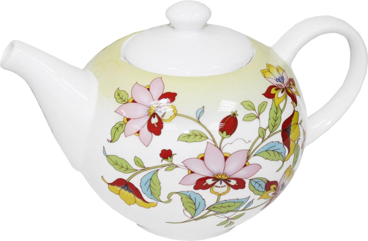 Чайник заварочный Azulejo Espanol Ceramica Sunny Flowers, 1 л216844Заварочный чайник Azulejo Espanol Ceramica Sunny Flowers сочетает в себе кухонную практичность и декоративную утонченность.Чайник оформлен художественной печатью и станет отличным украшением вашего интерьера.