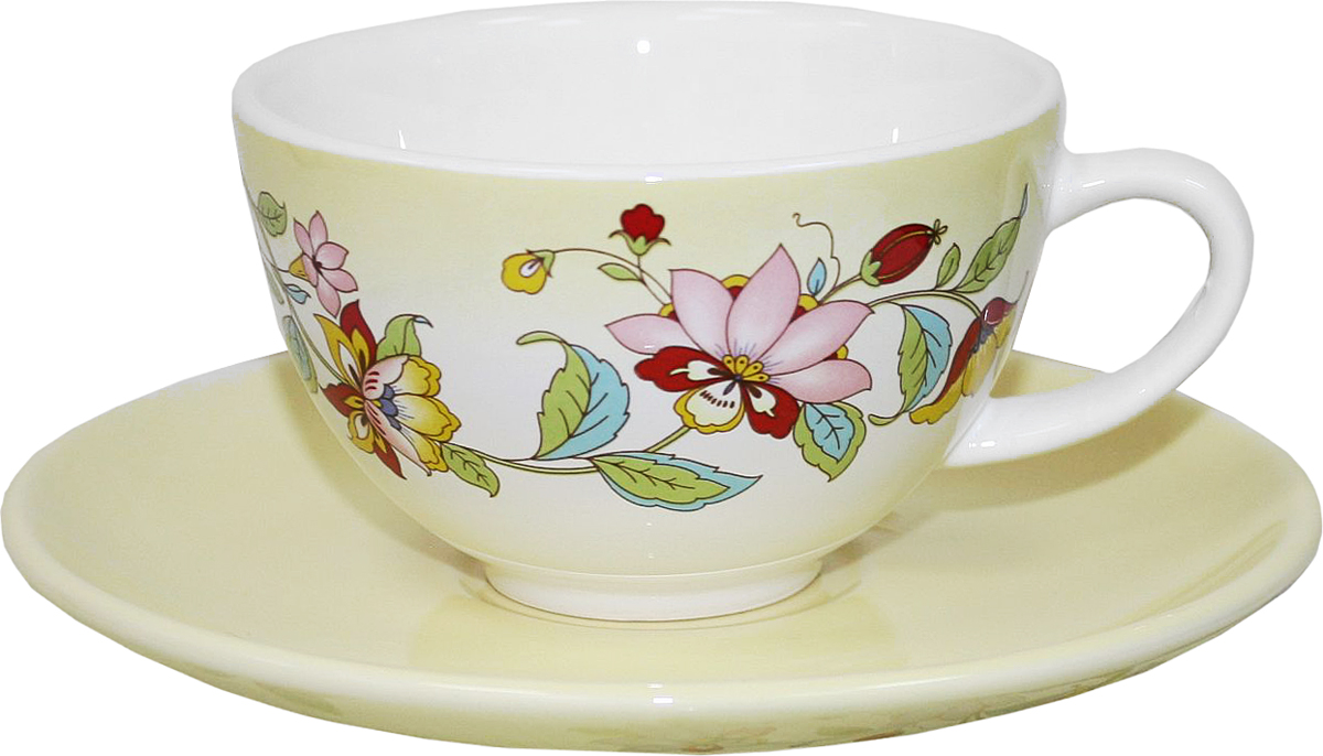 Чайная пара Azulejo Espanol Ceramica Sunny Flowers, 2 предмета216845Чайная пара Azulejo Espanol Ceramica Sunny Flowers сочетает в себе кухонную практичность и декоративную утонченность.Чайная пара оформлена художественной печатью и станет отличным украшением вашего интерьера. Объем чашки: 200 мл.