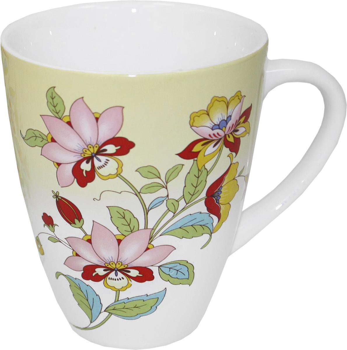 Кружка Azulejo Espanol Ceramica Sunny Flowers, 300 мл115510Кружка Azulejo Espanol Ceramica Sunny Flowers сочетает в себе кухонную практичность и декоративную утонченность.Кружка оформлена художественной печатью и станет отличным украшением вашего интерьера.