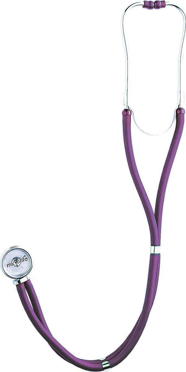 Microlife стетоскоп ST-77 сиреневыйST-77Стетоскоп Раппопорта предназначен для прослушивания тонов Короткова при измерении артериального давления механическим тонометром, легких. Имеет головку с большой и малой диафрагмой, 3 запасных комплекта олив различных размеров, запасную мембрану, 3 головки с воронками конической формы и 2 запасных диафрагмы.Обладает отличными акустическими характеристиками и надежной конструкцией. Профессиональные измерительные приборы Microlife популярны среди врачей всего мира и отлично зарекомендовали себя в России.