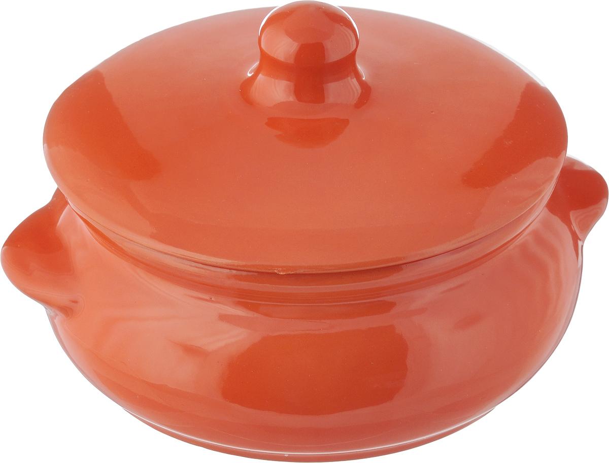 Горшок для запекания Борисовская керамика Радуга, с крышкой, цвет: оранжевый, 700 мл54 009312Горшок для запекания Борисовская керамика Радуга выполнен из высококачественной керамики. Уникальные свойства красной глины и толстые стенки изделия обеспечивают эффект русской печи при приготовлении блюд. Блюда, приготовленные в керамическом горшке, получаются нежными и сочными. Вы сможете приготовить мясо, сделать томленые овощи и все это без капли масла. Это один из самых здоровых способов готовки. Можно использовать в духовке и микроволновой печи. Диаметр горшка (по верхнему краю): 15 см.Высота стенок: 7 см.Объем: 700 мл.