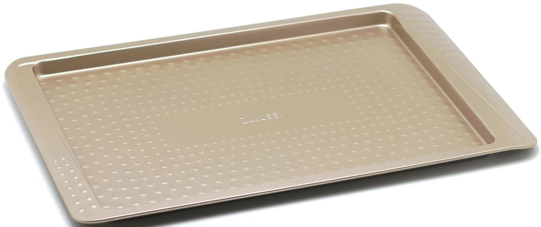 Противень Zanussi Turin, 39 х 25 х 1,5 см, цвет: бронзовый. ZAC37112CF94672Коллекция форм серии Turin является хорошим приобретением любой хозяйки. Товар бренда Zanussi - металлические формы - пользуется высоким спросом, его отличает высокое качество и удобный размер. Изделия выполнены из толстой углеродистой стали. Форма имеет антипригарное покрытие и утолщенные стенки, которые гарантируют равномерное пропеканиеизделия. Можно использовать в духовке до 230 градусов. Главное преимущество стальных форм - это абсолютная химическая нейтральность и экологичность.
