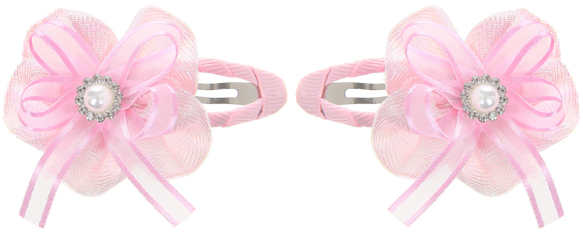 Babys Joy Заколка для волос цвет светло-розовый перламутровый 2 шт334-8248CPЗаколка для волос Babys Joy выполнена из металла и украшена текстильным цветком со стразами.Заколка позволит убрать непослушные волосы с лица, придаст образу романтичности и очарования.Заколка для волос Babys Joy подчеркнет уникальность вашей маленькой модницы и станет прекрасным дополнением к ее неповторимому стилю.В упаковке две заколки.Рекомендуется детям старше трех лет.