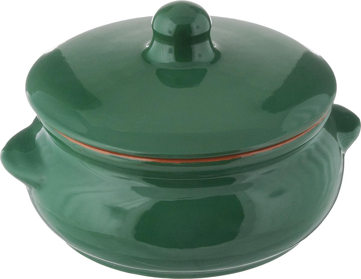 Горшок для запекания Борисовская керамика Радуга, с крышкой, цвет: зеленый, 700 мл391602Горшок для запекания Борисовская керамика Радуга выполнен из высококачественной керамики. Уникальные свойства красной глины и толстые стенки изделия обеспечивают эффект русской печи при приготовлении блюд. Блюда, приготовленные в керамическом горшке, получаются нежными исочными. Вы сможете приготовить мясо, сделать томленые овощи и все это без капли масла. Этоодин из самых здоровых способов готовки. Можно использовать в духовке и микроволновой печи. Диаметр горшка (по верхнему краю): 15 см.Высота стенок: 7 см. Объем: 700 мл.