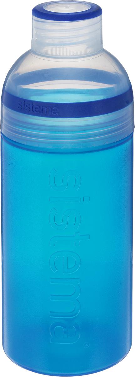 Бутылка для воды Sistema Trio, цвет: синий, 580 млAC-2233_серыйБутылка для воды Sistema Trio изготовлена из прочного пищевого пластика без содержания фенола и других вредных примесей. Она отлично подходит для разных напитков, особенно для прохладительных со льдом. Конструкция бутылки оригинальна и хорошо продуманна. Помимо крышки, закрывающей широкое горлышко бутылки, в емкости есть еще одна отвинчивающаяся часть. Верхняя часть бутылки откручивается, позволяя поместить в емкость кубики льда или кусочки фруктов. Кроме того, эта верхняя часть может использоваться как кружка для питья. С такой бутылкой вы сможете где угодно насладиться вашими любимыми напитками.Диаметр горлышка: 3 см.Диаметр бутылки (съемная часть): 7 см.Высота бутылки: 20,5 см.