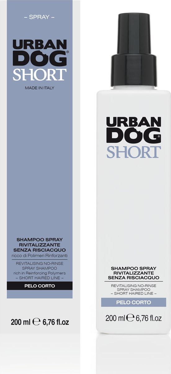 Шампунь-спрей для собак Urban Dog, для короткошерстных пород собак, без смывания, 200 мл65425Инновационный шампунь-спрей Urban Dog предназначен для частой и быстрой очистки. Отлично подходит для использования в любое время года, но особенно в зимний период. Ультра нежный, в нем использованы поверхностно-активные вещества естественного происхождения и усиленные полимеры, которые, совместно со смягчающим и противовоспалительным воздействием кокосового и персикового масел, придают шерсти мягкость и объем, делают ее чистой, хорошо пахнущей и легкорасчесываемой.