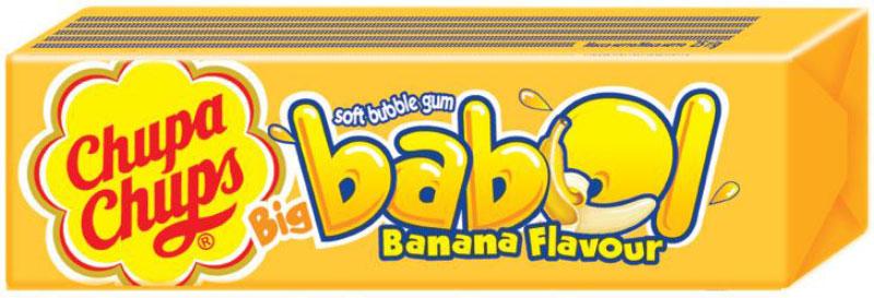 Chupa-Chups Big Babol Banana Flavour жевательная резинка, 24 шт по 21 г0120710Оригинальная жевательная резинка Chupa Chups Big Babol подарит вам незабываемые ощущения от яркого фруктового вкуса и огромные пузыри, которыми так любят баловаться взрослые и дети.Надуваемый пузырь настолько огромен, что может закрыть лицо от посторонних глаз.