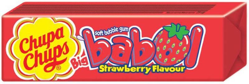 Chupa-Chups Big Babol Strawberry Flavour жевательная резинка, 24 шт по 21 г