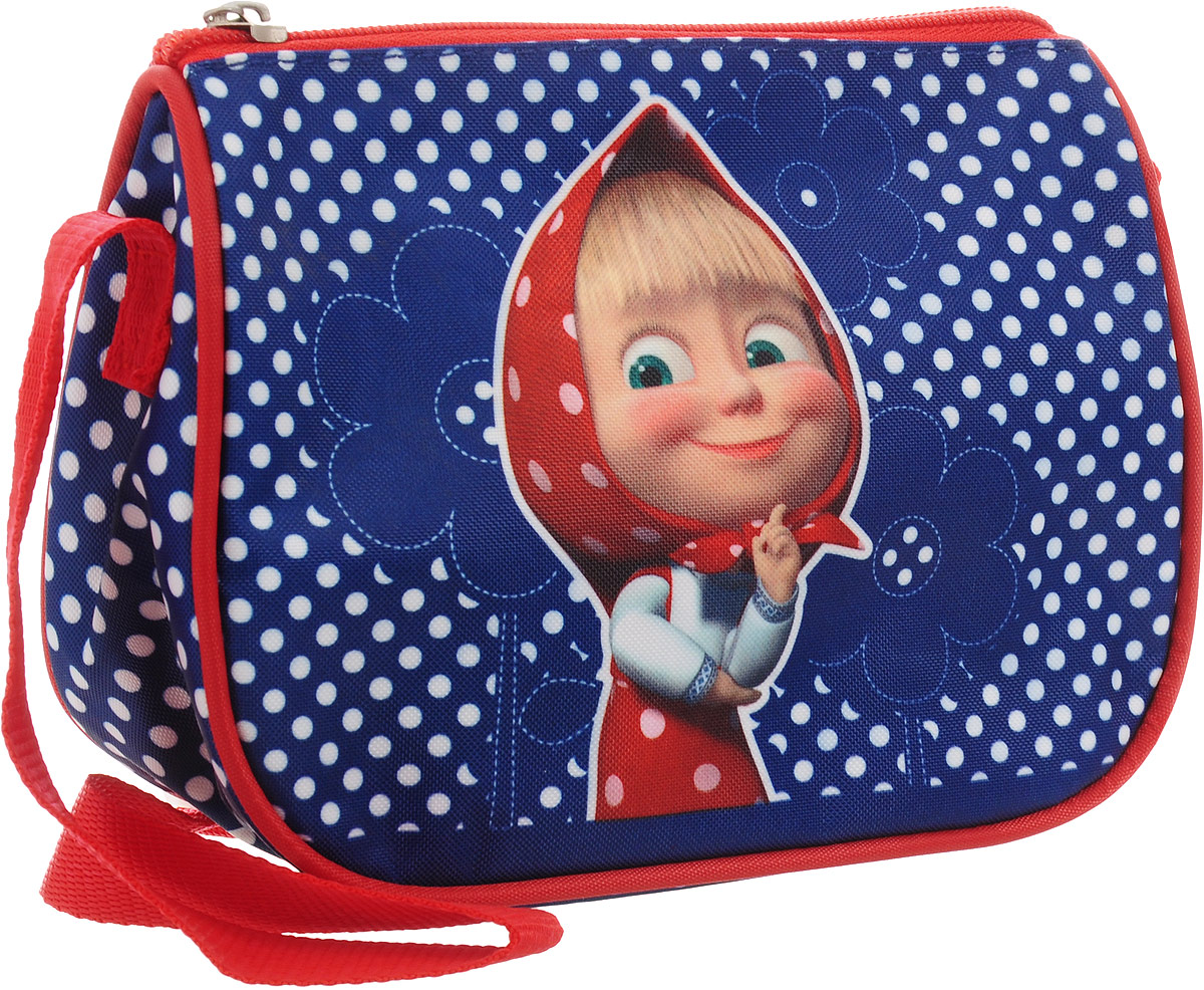 Маша и Медведь Сумка детская цвет синий красный72523WDЯркая и миниатюрная сумочка Маша и Медведь создана специально для вашей юной принцессы.С таким милым аксессуаром можно ходить в гости или на прогулку, а также устраивать множество увлекательных игр, всегда оставаясь в центре восхищенного внимания. Сумочка имеет одно отделение на застежке-молнии, в которое можно положить любимые игрушки или необходимые на прогулке вещи. Длину регулируемой лямки можно установить от 28 до 48 см, поэтому аксессуар подходит девочкам разного роста. Изделие декорировано яркими рисунками (сублимированной печатью), устойчивыми к истиранию и выгоранию на солнце.