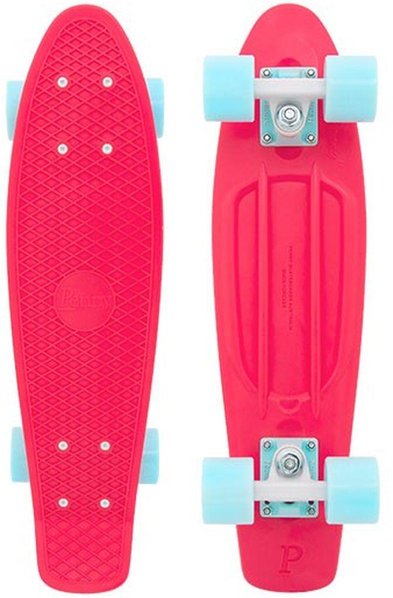 Пенни борд Penny Original, цвет: неоновый розовый, светло-голубой, дека 57 х 15 см скейтборды penny комплект лонгборд original 22 ss