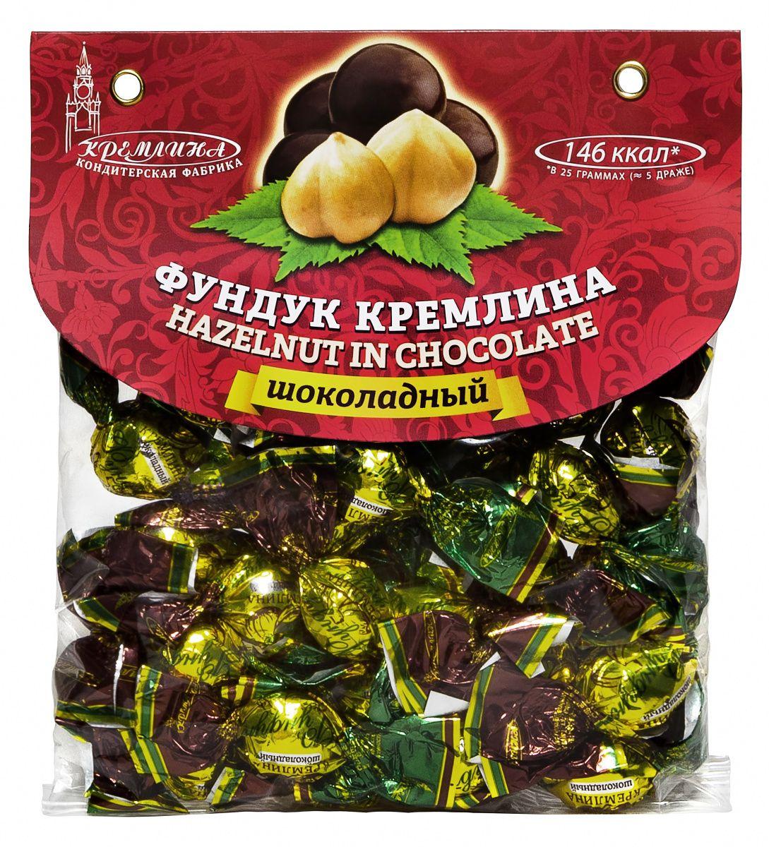 Кремлина Фундук в шоколаде, 135 г4607039271041Гиппократ говорил: Ваша еда должна быть вашим лекарством, а ваши лекарства - едой. В случае с орехами фундука это утверждение работает идеально - на 100%! Данный орех является прекрасным источником белка и витаминов.