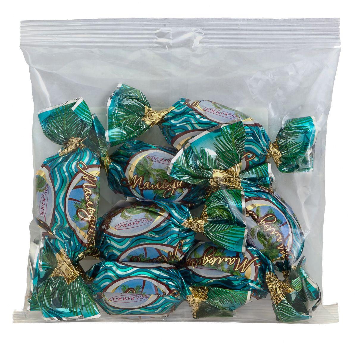 Кремлина Кэжуал Мальдивы конфеты сливочные с воздушным рисом, 140 г4607039271706Тропики, кокос, нежность шоколада. Струящийся сквозь пальцы песок и крики цветастых райских птах. Голубая вода и легкий морской бриз. Все это вы сможете найти в конфетах Мальдивы.