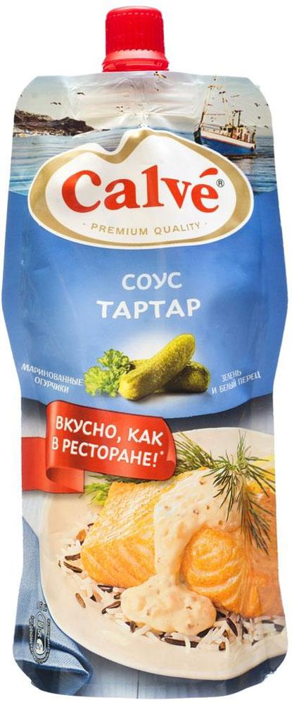 Calve Соус Тартар, 230 г0120710Классический французский соус Тартар от Calve имеет приятный вкус, благодаря особенному сочетанию приправ, зелени и маринованных огурчиков. Он прекрасно подойдет к блюдам из морепродуктов, а также к рыбе или пельменям. Благодаря необычному сочетанию ингредиентов соус придаст особенный и насыщенный вкус привычным блюдам. За счет удобной и мягкой упаковки с дозатором вы сможете добавить в блюдо ровно столько продукта, сколько необходимо, и использовать его до последней капли.