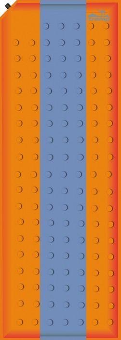 Коврик самонадувающийся Tramp, цвет: оранжевый, синий, 180х50х2,5см. TRI-00267742Внутренняя структура: вертикальные каналыРазмер: 180 х 50 х 2,5 смКлапан: пластикДопустимая нагрузка: до 75 кгПолный вес: 900 гРазмер в упаковке: 25х15 смКовер имеет чехол и стягивающие ремни.