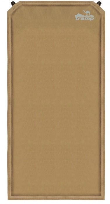 Коврик самонадувающийся Tramp, цвет: бежевый, 185х130х5,0см. TRI-01110936Размер: 180х130х5 смКлапан: пластик (2 шт)Допустимая нагрузка: до 130 кгМатериал: Полиэстер Сhamois suede Материал (верх), Полиэстер Slides Less 75D (дно)Полный вес: 4 кгУпаковка: тканевый мешок Ковёр имеет чехол и стягивающие ремни.Серия Комфорт + Новая сверх-комфортная серия.Материал верхнего слоя ковров данной серии выполнен из тканой замши. Это не позволит спальнику сползать сковра и обеспечит дополнительную мягкость, сохраняя тепло вашего тела. Структура низа ковра - SlidesLess (точечное гелеобразное нанесение) не даст ему скользить по дну палатки при расположении на наклонных поверхностях. Некоторыемодели оснащены вторым клапаном для сокращения времени самонадувания.Размер в упаковке: 65х25 см