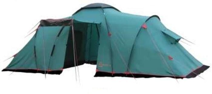 Палатка кемпинговая Tramp Brest +9, цвет: зеленый67744Двухслойная палатка Tramp Brest +9 с одним входом и большим тамбуром отлично подойдет для кемпинга. Внешний тент палатки устойчив к ультрафиолетовому излучению и имеет пропитку, задерживающую распространение огня. Входы всех трех спальных отделений продублированы москитной сеткой. Во внешнем тенте вход в тамбур также продублирован москитной сеткой. Тент палатки оборудован юбкой. Имеет три спальных отделения и столько же больших вентиляционных окон. Все швы проклеены. Съемный пол выполнен из терпаулинга. Палатки этой серии рассчитаны на семейный отдых, отдых большой компанией.Размер спального места: 220 х 180 см.Размер тамбура: 215 х 210 см.