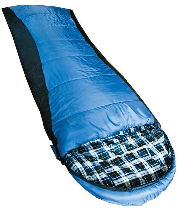 Спальный мешок Tramp Nightking R, цвет: индиго, черный, правосторонняя молнияKOC-H19-LEDСпальник Tramp Nightking R незаменим в простых походах в летнее время или в походах на автомобиле, когда объем и вес спального мешка не имеет большого значения. В спальном мешке используется современный, мягкий утеплитель - силиконизированный HiTech Hollofiber. Волокна данного материала имеют полый канал и спиралевидную форму, что позволяет удерживать большой объем воздуха и отлично сохранять тепло. Волокна не пропускают и не впитывают влагу, даже в условиях повышенной влажности сохраняют тепло. Материал отлично восстанавливается после сжатия, занимает минимальный объем, гипоаллергеннен, не токсичен. Данный утеплитель имеет наилучшее соотношение цена/качество. В качестве внешнего материала используется высокопрочный полиэстер с плетением RipStop, надежно защищающий спальный мешок от влаги и повреждений. Приятный на ощупь внутренний материал из фланели. Плотная стропа вдоль молнии предотвращает закусывание ткани.Удобный компрессионный мешок позволяет минимизировать транспортный объем и защищает спальный мешок от повреждений во время похода.