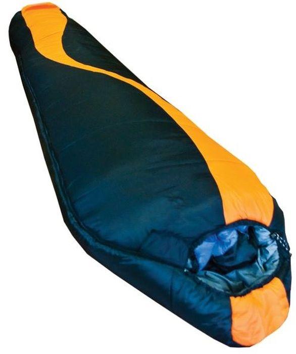 Спальный мешок Tramp Siberia 7000, цвет: оранжевый, черный, левая молния. TRS-010.02TRS-010.02_LСинтетический спальный мешок Tramp Siberia 7000 - легкий, двухслойный спальник для холодных условий. Анатомическая форма спальных мешков экономит вес. В нем используется современный, мягкий утеплитель - HiTech Hollofiber. Волокна данного материала имеют полый канал и спиралевидную форму, что позволяет удерживать большой объем воздуха и отлично сохранять тепло. Волокна не пропускают и не впитывают влагу, даже в условиях повышенной влажности сохраняют тепло. Материал отлично восстанавливается после сжатия, занимает минимальный объем, гипоаллергенен, не токсичен. В качестве внешнего материала используется высокопрочный нейлон 300T/ 40D Diamond Ripstop и полиэстер 210T с плетением RipStop, надежно защищающий спальный мешок от влаги и повреждений. Плотная стропа вдоль двусторонней молнии предотвращает закусывание ткани. Удобная система стяжек позволяет максимально сохранить тепло внутри спальника. Спальные мешки состегиваются. Удобный компрессионный мешок позволяет минимизировать транспортный объем и защищает спальный мешок от повреждений во время похода.Эксплуатация:После каждого использования следует хорошо просушить спальный мешок на солнце. Внимание! Не используйте спальный мешок в близи открытого огня! При укладке спального мешка в компрессионный мешок, не пытайтесь его складывать или скатывать. Следует вталкивать его хаотично. Это позволит избежать смятых волокон и потертостей на месте сгиба.Уход:Спальный мешок следует стирать только при появлении сильных загрязнений, так как каждая стирка ухудшает его теплоизоляционные свойства. Рекомендуется ручная стирка при температуре не выше 40 С. При стирке используйте специальные моющие средства для синтетических наполнителей, которые можно приобрести в специализированных магазинах. Не используйте отбеливатель и ополаскиватель для белья – это может повредить волокна вашего спального мешка.Не следует отжимать спальный мешок, лучше