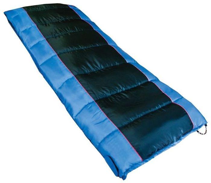 Спальный мешок Tramp WALRUS R, цвет: индиго, черный, правая молния. TRS-012.06KOC2028LEDСинтетический спальный мешок Tramp Walrus незаменим в простых походах в летнее время или в походах на автомобиле, когда объем и вес спального мешка не имеет большого значения. Спальник имеет форму одеяла или одеяла с подголовником. Такая форма обеспечивает максимальный комфорт во время сна. В качестве внешнего материала используется высокопрочный полиэстер с плетением RipStop, надежно защищающий спальный мешок от влаги и повреждений. Приятный на ощупь внутренний материал из хлопка или фланели. В спальных мешке используется современный, мягкий утеплитель - силиконизированный HiTech Hollofiber. Волокна данного материала имеют полый канал и спиралевидную форму, что позволяет удерживать большой объем воздуха и отлично сохранять тепло. Волокна не пропускают и не впитывают влагу, даже в условиях повышенной влажности сохраняют тепло. Материал отлично восстанавливается после сжатия, занимает минимальный объем. Плотная стропа вдоль двусторонней молнии предотвращает закусывание ткани. Удобный подголовник может заменить подушку. Удобный компрессионный мешок позволяет минимизировать транспортный объем и защищает спальный мешок от повреждений во время похода.Эксплуатация.После каждого использования следует хорошо просушить спальный мешок на солнце. Внимание! Не используйте спальный мешок в близи открытого огня! При укладке спального мешка в компрессионный мешок, не пытайтесь его складывать или скатывать. Следует вталкивать его хаотично. Это позволит избежать смятых волокон и потертостей на месте сгиба.Уход.Спальный мешок следует стирать только при появлении сильных загрязнений, так как каждая стирка ухудшает его теплоизоляционные свойства. Рекомендуется ручная стирка при температуре не выше 40 С. При стирке используйте специальные моющие средства для синтетических наполнителей, которые можно приобрести в специализированных магазинах. Не используйте отбеливатель и ополаскиватель для белья - эт