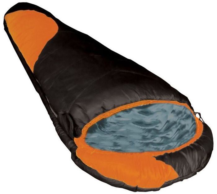 Спальный мешок Tramp Winnipeg, цвет: черный, оранжевый, правая молния. TRS-003.06TRS-003.06_RСинтетический спальный мешок Tramp Winnipeg разработан специально для сложных походов в тяжелых климатических условиях. Анатомическая форма обеспечивает комфорт во время сна, при этом экономит вес при транспортировке. Внешний материал - высокопрочный Nylon 300T/40D с плетением Diamond RipStop надежно защищает спальный мешок от влаги и повреждений, при этом сам материал очень легкий и, благодаря своей структуре, занимает мало места и имеет лёгкий вес. Приятный на ощупь и практичный в использовании внутренний материал из нейлона сделает отдых в спальном мешке максимально комфортным. В качестве наполнителя используется самый технологичный из современных утеплителей серии ProLite, Extrafil Q7 многократно проверенный в экстремальных экспедициях. Этот утеплитель имеет сложную спиралевидную форму, а волокно содержит 7 полых каналов, придающих дополнительную теплоизоляцию, не увеличивая вес изделия. Этот спальный мешок может использоваться в сложных походах, где важны не только температурный режим, но и вес. Плотная стропа вдоль двусторонней молнии предотвращает закусывание ткани. Используются молнии японской фирмы YKK - самые надежные в мире. Удобная система стяжек позволяет эффективно сохранять тепло внутри спальника, а кармашки внутри спального мешка позволят хранить документы рядом с собой во время сна. Спальные мешки состегиваются между собой. Удобный компрессионный мешок позволяет минимизировать транспортный объем и защищает спальный мешок от повреждений во время похода.Эксплуатация.После каждого использования следует хорошо просушить спальный мешок на солнце. Внимание! Не используйте спальный мешок в близи открытого огня! При укладке спального мешка в компрессионный мешок, не пытайтесь его складывать или скатывать. Следует вталкивать его хаотично. Это позволит избежать смятых волокон и потертостей на месте сгиба.Уход.Спальный мешок следует стирать только при появлении сильных