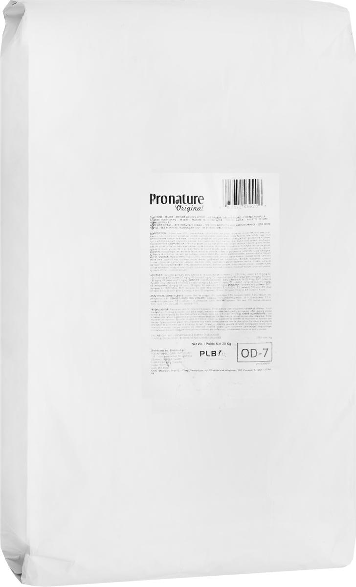 Корм сухой Pronature Original 19, для собак, сеньор цыпленок без сои, пшеницы, кукурузы, 20 кг102.493
