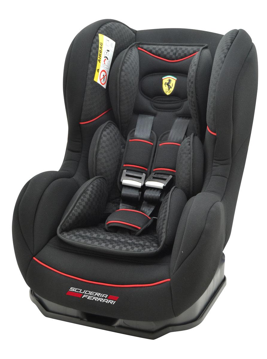 Nania Автокресло Cosmo SP Isofix Ferrari Black до 18 кгFS-80423Автокресло Nania Cosmo SP Isofix Ferrari относится к группе (9-18 кг). Соответствует стандартам ECE R44/04. Автокресло Nania Cosmo SP имеет специальный мягкий вкладыш и подголовник. Дополнительная усиленная боковая защита, 3 положения спинки, 5-ти точечный ремень безопасности с удобной системой натяжения. Эргономичное сиденье легко устанавливается в автомобиле благодаря простой и надежной системе крепления (IsoFix).ISOFIX является международным стандартам системы крепления для сидений с собственной системой ремней. Замок системы крепления Isofix универсальный и подходит для фиксации за проушины, закрепленные к автомобилю между спинкой и подушкой заднего дивана. Автокресло Nania Cosmo SP было разработано на основе требований безопасности, а также ортопедических факторов: мягкие обивка и подушки, а также анатомическая форма обеспечивает комфорт даже в дальних поездках. Система боковой защиты Side Protection (SP) обеспечивает необходимую безопасность даже при боковом столкновении. 5-ти точечные ремни безопасности можно регулировать не только по длине и высоте, но и снять совсем, когда ребенок подрастет.Серия FERRARI - фирменные цвета итальянского спорткара в сочетании с автокреслом серии LUXE. Автокресло гарантирует европейское качество и обеспечивает безопасность пассажира. Кроме того, предлагается дополнительный комфорт за счет подушек в районе головы и таза, которые при необходимости можно убрать.