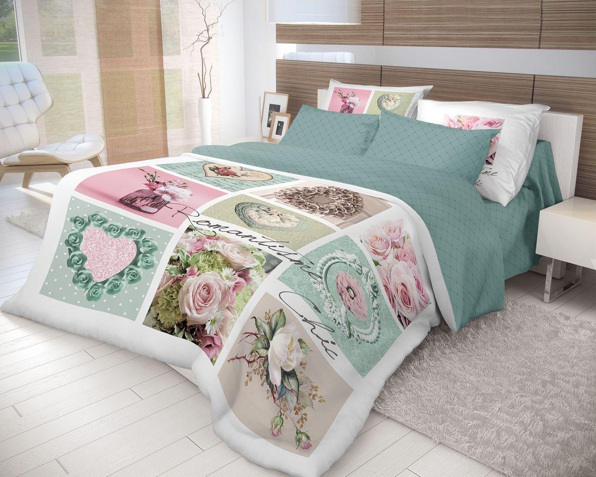 Комплект белья Волшебная ночь Frame, 2-спальный, наволочки 50х70, цвет: зеленый, белый70134Роскошный комплект постельного белья Волшебная ночь Frame выполнен из натурального ранфорса (100% хлопка) и оформлен оригинальным рисунком. Комплект состоит из пододеяльника, простыни и двух наволочек. Ранфорс - это новая современная гипоаллергенная ткань из натуральных хлопковых волокон, которая прекрасно впитывает влагу, очень проста в уходе, а за счет высокой прочности способна выдерживать большое количество стирок. Высочайшее качество материала гарантирует безопасность.