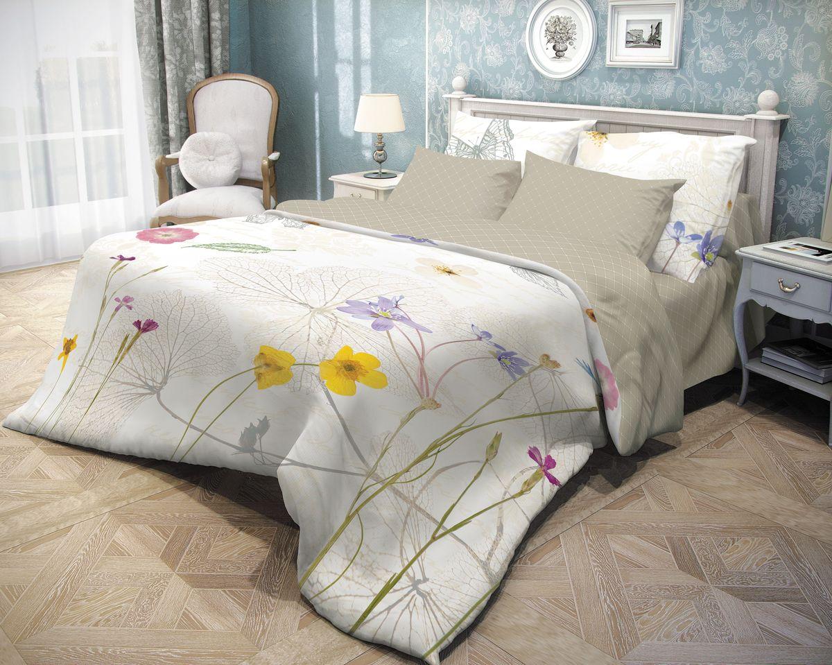 Комплект белья Волшебная ночь Meadow, 1,5-спальный, наволочки 50х70, цвет: белый, серыйpva215325Роскошный комплект постельного белья Волшебная ночь Meadow выполнен из натурального ранфорса (100% хлопка) и оформлен оригинальным рисунком. Комплект состоит из пододеяльника, простыни и двух наволочек. Ранфорс - это новая современная гипоаллергенная ткань из натуральных хлопковых волокон, которая прекрасно впитывает влагу, очень проста в уходе, а за счет высокой прочности способна выдерживать большое количество стирок. Высочайшее качество материала гарантирует безопасность.