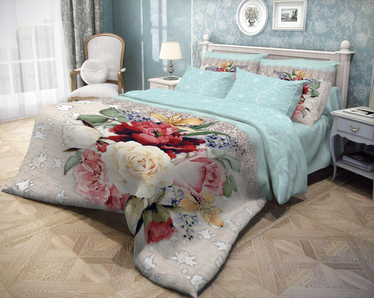 Комплект белья Волшебная ночь Weave, 2-спальный, наволочки 70х70, цвет: бирюзовый, бежевый. 71061510503Роскошный комплект постельного белья Волшебная ночь Weave выполнен из натурального ранфорса (100% хлопка) и оформлен оригинальным рисунком. Комплект состоит из пододеяльника, простыни и двух наволочек. Ранфорс - это новая современная гипоаллергенная ткань из натуральных хлопковых волокон, которая прекрасно впитывает влагу, очень проста в уходе, а за счет высокой прочности способна выдерживать большое количество стирок. Высочайшее качество материала гарантирует безопасность.